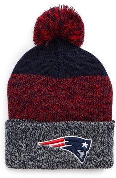 '47 Women's New England Patriots Static Cuff Knit Beanie - Blue