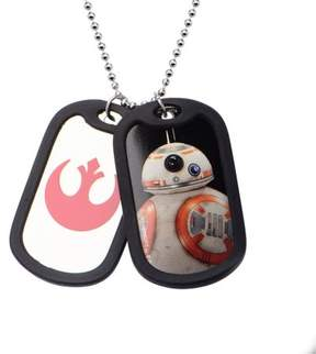 Star Wars Men's Stainless Steel Episode 7 BB-8 with Rubber Silencer Double Dog Tag Pendant