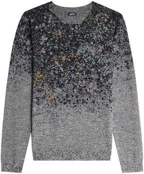 Jil Sander Navy Printed Wool Pullover