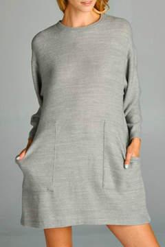 Cherish Grey Sweater Dress