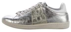 Anine Bing Metallic Low-Top Sneakers