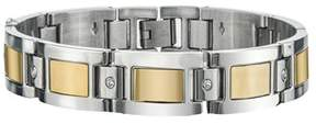 Armani Exchange Jewelry Mens Diamond Bracelet In Yellow Plating Stainless Steel.
