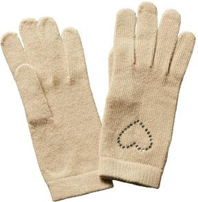 Portolano Women's Beige Wool & Cashmere-Blend Gloves