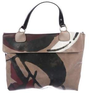 Marni Printed Leather Satchel