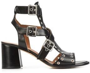 Derek Lam Java Caged Block-Heel Sandal w/ Grommets