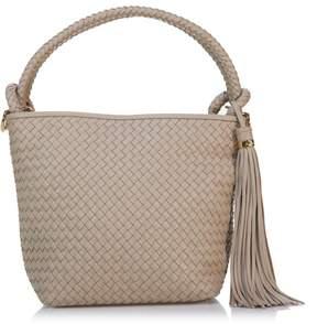 Sam Edelman Rhoda Woven Leather Crossbody Bucket Bag