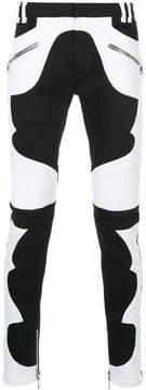 Balmain colour block biker jeans