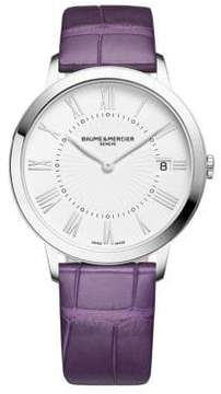 Baume & Mercier Classima 10144 Stainless Steel & Alligator Strap Watch