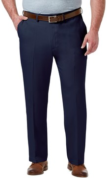 Haggar Big & Tall Premium Comfort Classic-Fit Stretch No-Iron Flat-Front Dress Pants