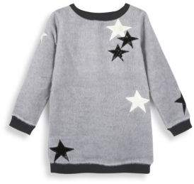 Andy & Evan Toddler's & Little Girl's Fuzzy Star Tunic Sweater