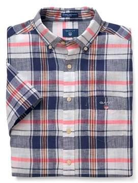 Gant Men's Multicolor Linen Shirt.