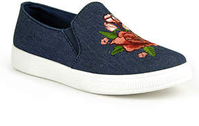 Refresh Jean Embroidered Flower Slip-On Sneaker