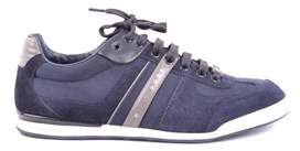 HUGO BOSS Men's Blue Fabric Sneakers.