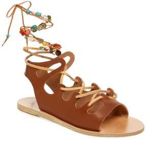 Ancient Greek Sandals Women's Antigone Stone Lace-Up Sandal
