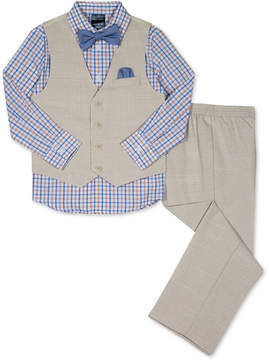 Nautica 4-Pc. Vest, Shirt, Pants & Bow Tie Set, Little Boys