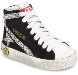 Golden Goose Deluxe Brand Infant Girl's Slide Glittery High Top Sneaker