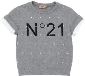 N°21 Embellished Light Cotton Sweatshirt