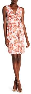 Donna Morgan Sleeveless Printed Jersey Wrap Dress