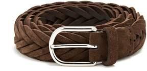Brunello Cucinelli Woven suede belt