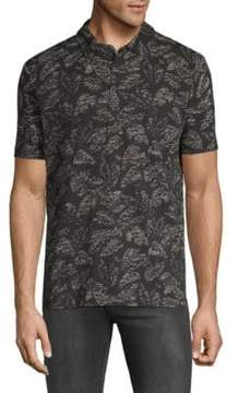 Michael Bastian Leaf-Print Cotton Polo