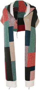 Stella McCartney printed hooded scarf