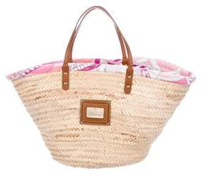 Emilio Pucci Large Palm Leaf Shopper