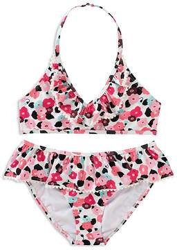 Kate Spade Girls' Ruffled Blooming Floral 2-Piece Swimsuit - Little Kid