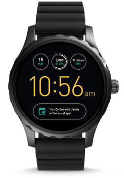 Fossil REFURBISHED Gen 2 Smartwatch - Q Marshal Black Silicone
