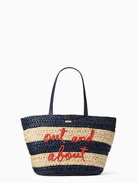 Kate Spade Shore thing out and about straw tote - MULTI - STYLE