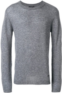 Emporio Armani ribbed trim logo pin jumper