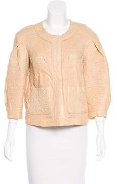 Christian Lacroix Embossed Leather Jacket