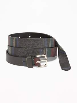 Old Navy Plaid Skinny Belt for Women
