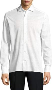 Luciano Barbera Men's Solid Pique Sportshirt