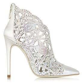Loriblu Women's White Satin Heels.