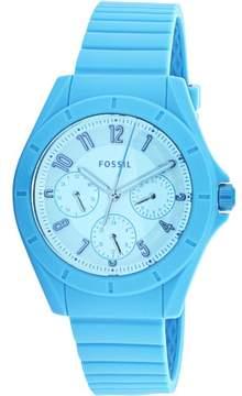 Fossil Poptastic ES4189 Blue Rubber Japanese Quartz Fashion Watch