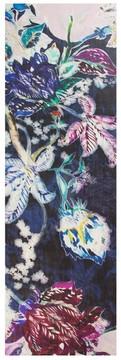St. John Lilia Print Silk Georgette Scarf