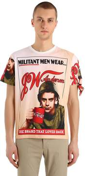 J.W.Anderson Militant Cotton Jersey T-Shirt W/ Knot