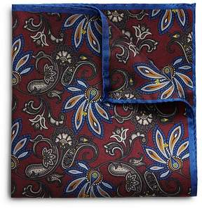 Eton Floral Bordered Pocket Square