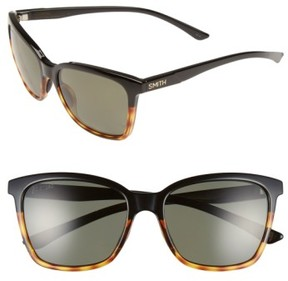 Smith Women's 'Colette' 55Mm Polarized Sunglasses - Black Tortoise/ Polar Green