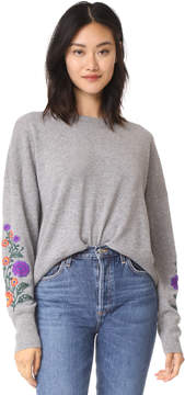 Autumn Cashmere Embroidered Cashmere Sweater
