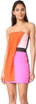 Barbara Bui Strapless Multicolor Dress