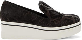 Stella McCartney Grey Python Binx Platform Sneakers