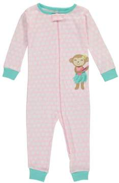 Carter's Baby Girls' 'Hula Dance' 1-Piece Pajama Suit - pink/multi, 18 months