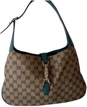 Gucci Jackie cloth handbag - TURQUOISE - STYLE
