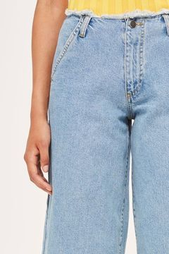 Boutique Super wide leg frayed jeans