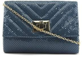 La Regale 50079 Women Synthetic Blue Clutch.