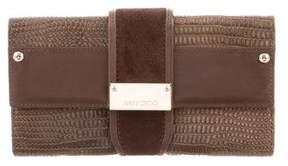 Jimmy Choo Uma Embossed Leather Wallet