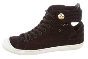 Louis Vuitton Perforated Cutout Sneakers