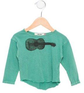 Bobo Choses Boys' Guitar Print Long Sleeve Shirt