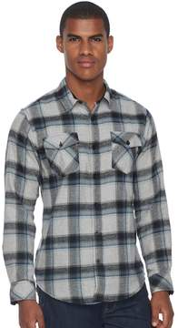 Burnside Men's Flannel Button-Down Shirt